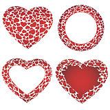 Vector heart frames set