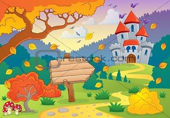 Autumn theme with castle 1