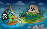 Theme with pirate skull island 1