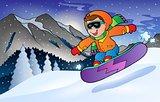 Winter mountain sport theme 3
