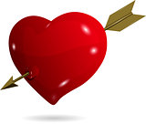 symbolic heart with arrow
