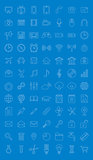 Universal icons set for web design. Vector illustration.