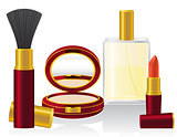 set cosmetics vector illustration
