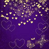 Violet grunge valentine frame