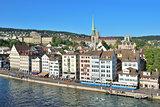 Zurich in the evening