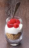Raspberries Dessert