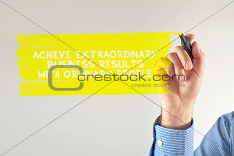 Extraordinary business results