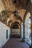 hallways inside Santa Catalina monastery Arequipa Peru