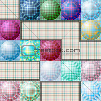 abstract pattern from balls of different colors