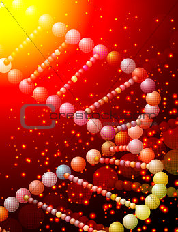 abstract vector illustration of a helical DNA