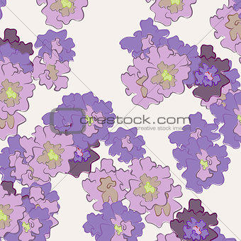abstract flowers on a light background