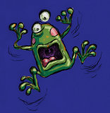 Freaked out frog