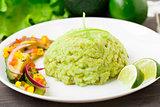 Creamy avocado rice