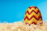 Easter egg in hay