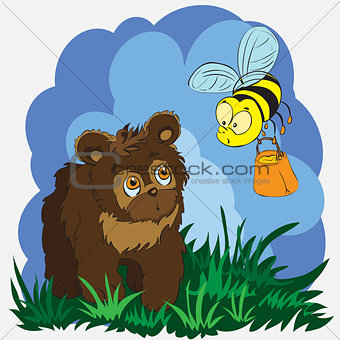bear and bee
