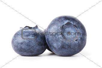 three fresh blueberries