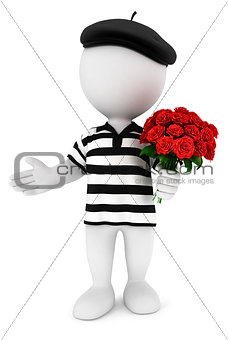3d white people romantic frenchman