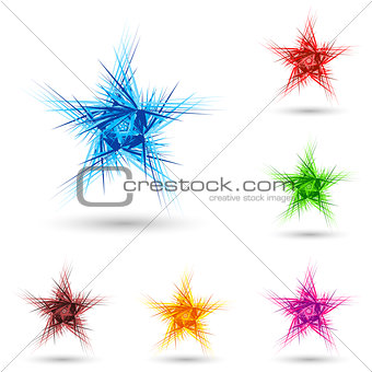 Abstract fluffy star.