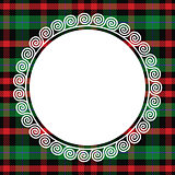 vector seamless pattern Scottish tartan with frame