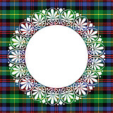vector seamless pattern Scottish tartan Black Watch