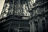 Black and white Tour Eiffel