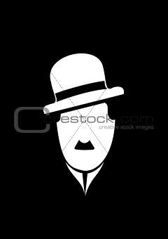 Charles Chaplin comedy vector symbol