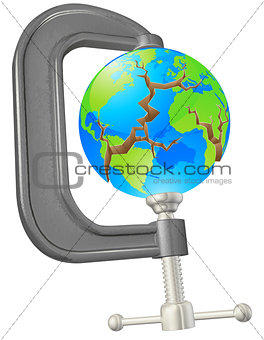 Clamp cracking globe concept