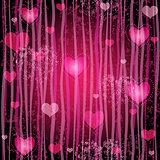 Grungy pink valentine pattern