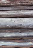 Aged wood log wall texture
