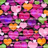 Motley seamless valentine pattern