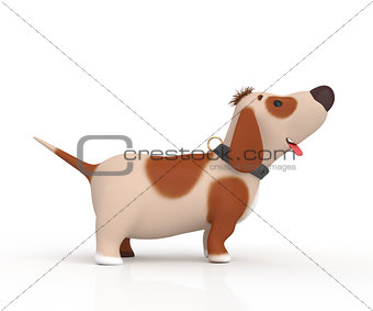 3d little dog