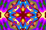 Colored geometric ornament