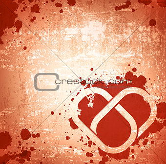 Grunge Abstract Heart Background