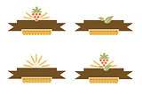 Vintage Bakery and Harvest Banner Set