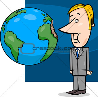 business concept cartoon illustration