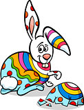 colorful easter bunny cartoon illustration