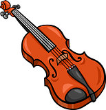 violin cartoon illustration clip art