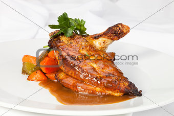 Grilled Chicken breast w wing