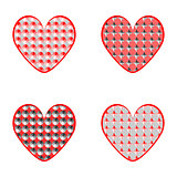 Set of design heart icons for Valentine's Day and wedding