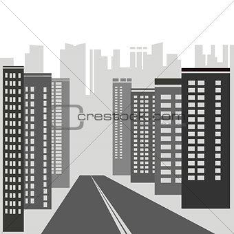 gray skyscrapers