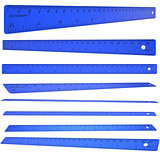 Blue plastic ruler