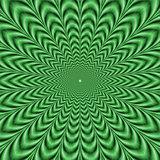 Green Zig Zag Circles