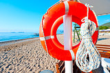 lifebuoy on the beach