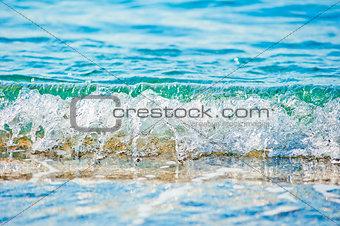 sea wave clean closeup