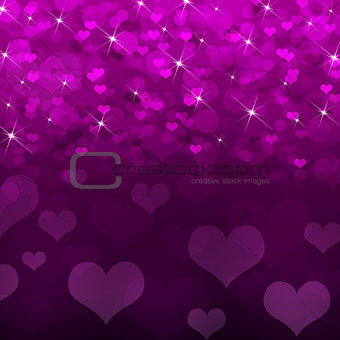 Abstract background of magenta hearts