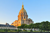 Paris. Invalides Cathedral at sunset