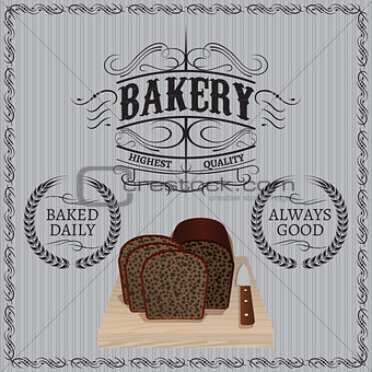 background with bread for a bakery
