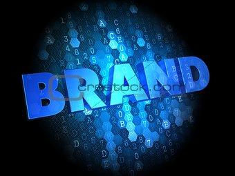 Brand on Dark Digital Background.