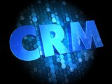 CRM on Dark Digital Background.