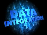 Data Integration on Dark Digital Background.